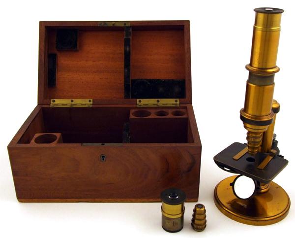 Museum optischer instrumente frühes kleines gundlach mikroskop