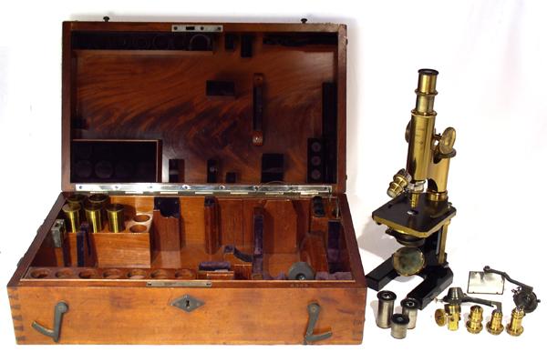 Museum optischer instrumente: großes zeiss mikroskop stativ i